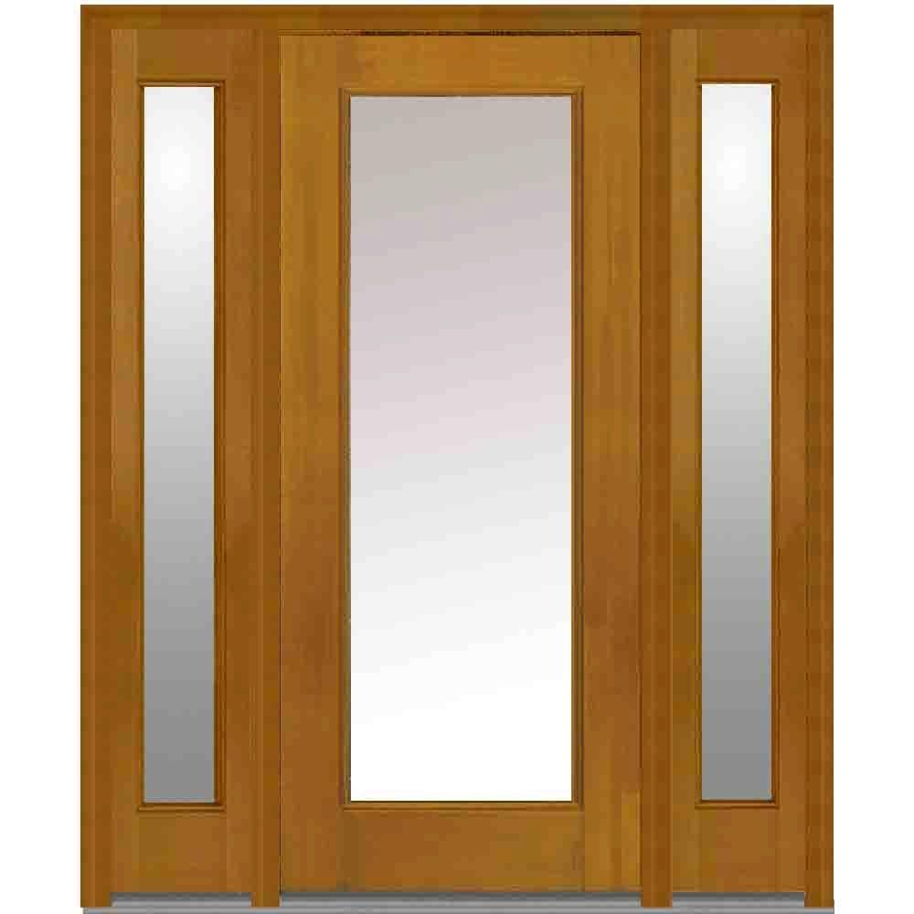 Mmi door 60 in x 80 in clear glass right hand full lite for 12 x 60 window