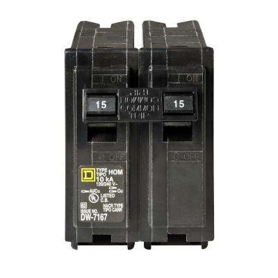 Homeline 15 Amp 2-Pole Circuit Breaker