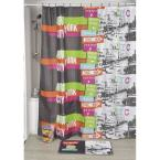 undefined Urban Nyc 71 in. x 79 in. Multicolored Polyester Printed Fabric Shower Curtain