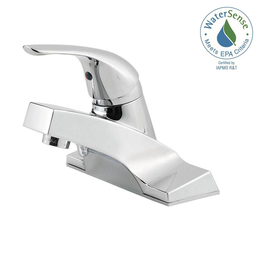 Pfister Pfirst Series 4 In Centerset Single Handle Bathroom Faucet In Polished Chrome Lg142