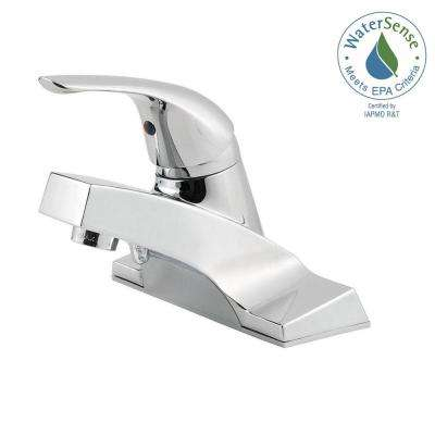 Pfirst Series 4 in. Centerset Single-Handle Bathroom Faucet in Polished Chrome