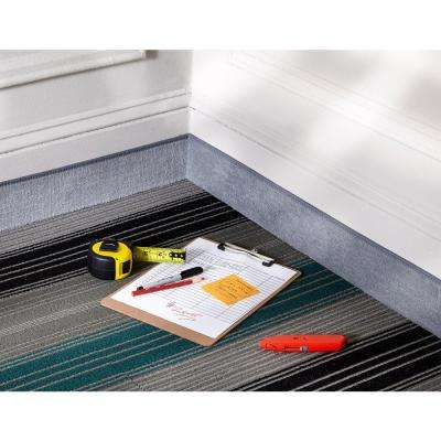 Gray 4 in. x 48 ft. Carpet Cove Base Roll