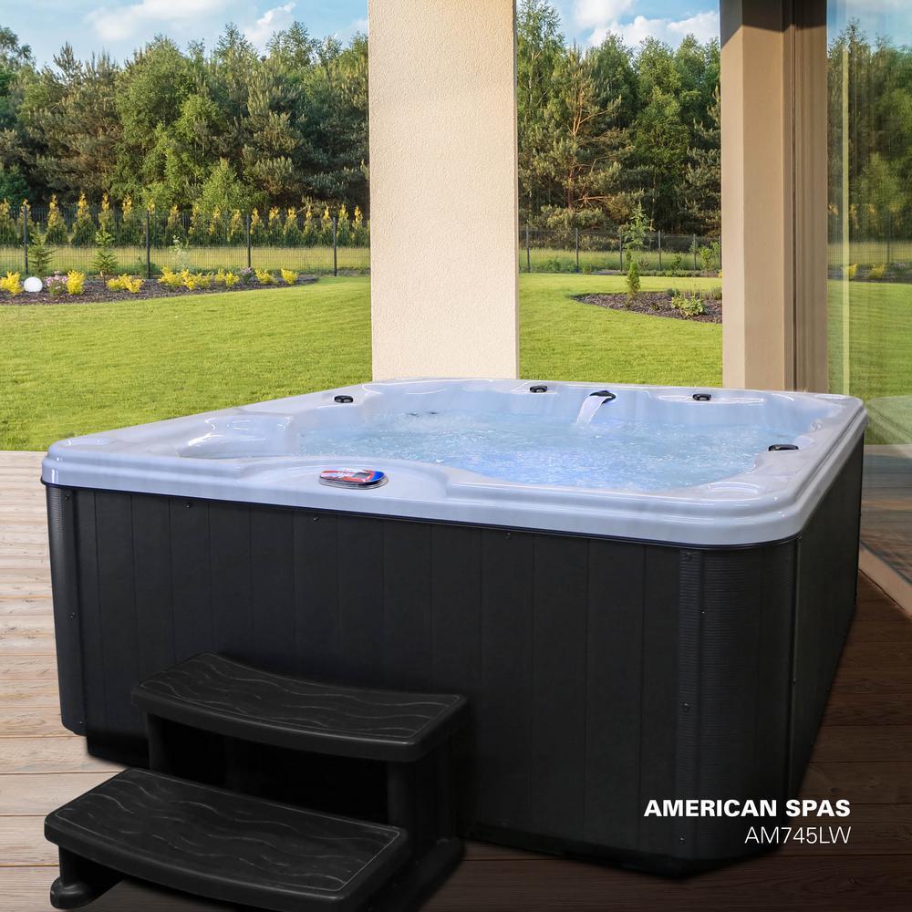 American Spa Aqua 6-person 83-Jet Hot Tub (AM745L-W)