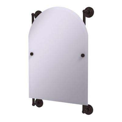 Prestige Que New Collection Arched Top Frameless Rail Mounted Mirror in Antique Bronze