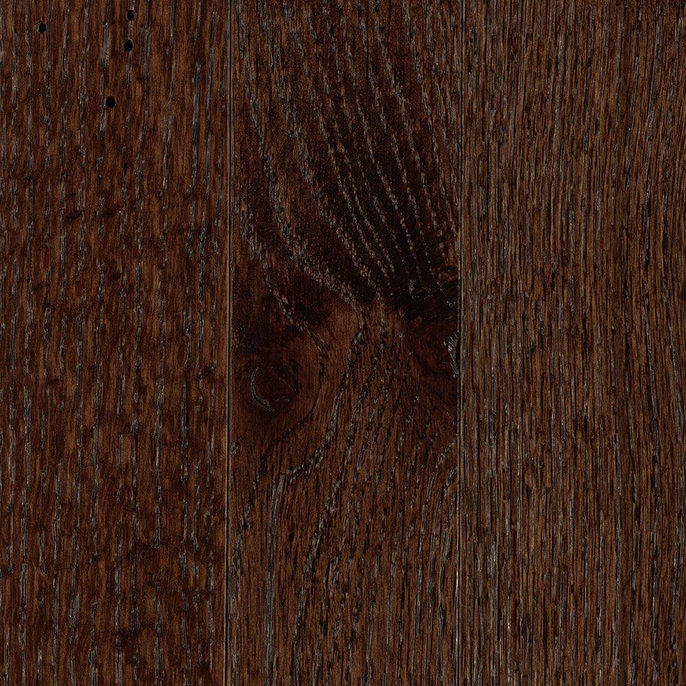 null Franklin Dark Truffle Oak 3/4 in. Thick x 2-1/4 in. Wide x Varying Length Solid Hardwood Flooring (18.25 sq. ft. / case)