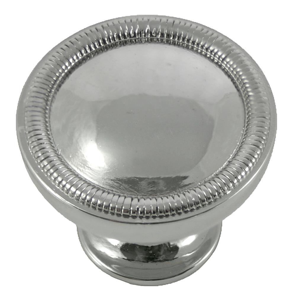MNG Hardware 2 in. Polished Nickel Vanilla Border Knob The Vanilla Knob by MNG Hardware features a beautiful beaded accent to today's popular design. Casted in High Density Zinc for durability and quality. Includes standard mounting hardware.