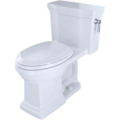 Promenade II 1-piece  1.28 GPF Single Flush Elongated Toilet with CeFiONtect and Right Hand Trip Lever in Cotton White