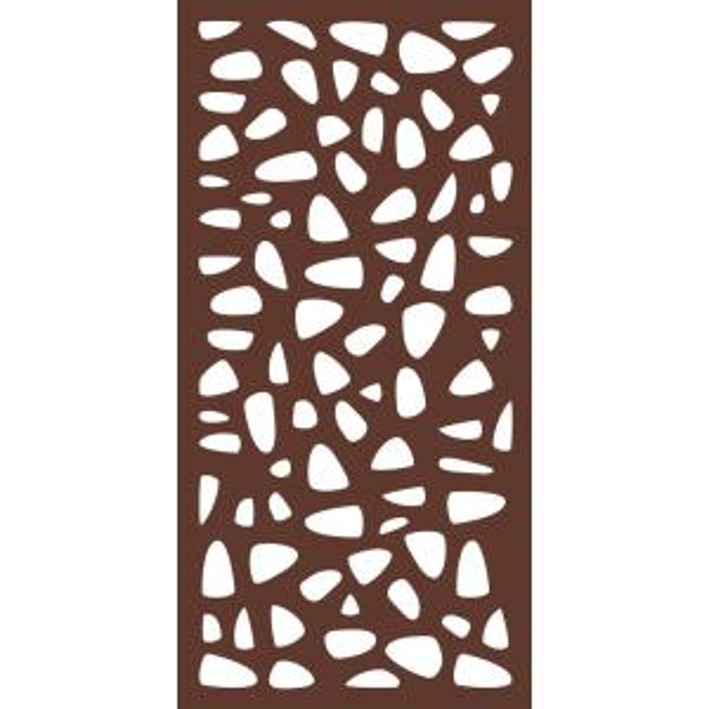 6 Ft X 3 Ft Espresso Brown Modinex Decorative Composite