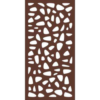 6 ft x 3 ft Espresso Brown Modinex Decorative Composite Fence Panel featured in the Stonewall Design