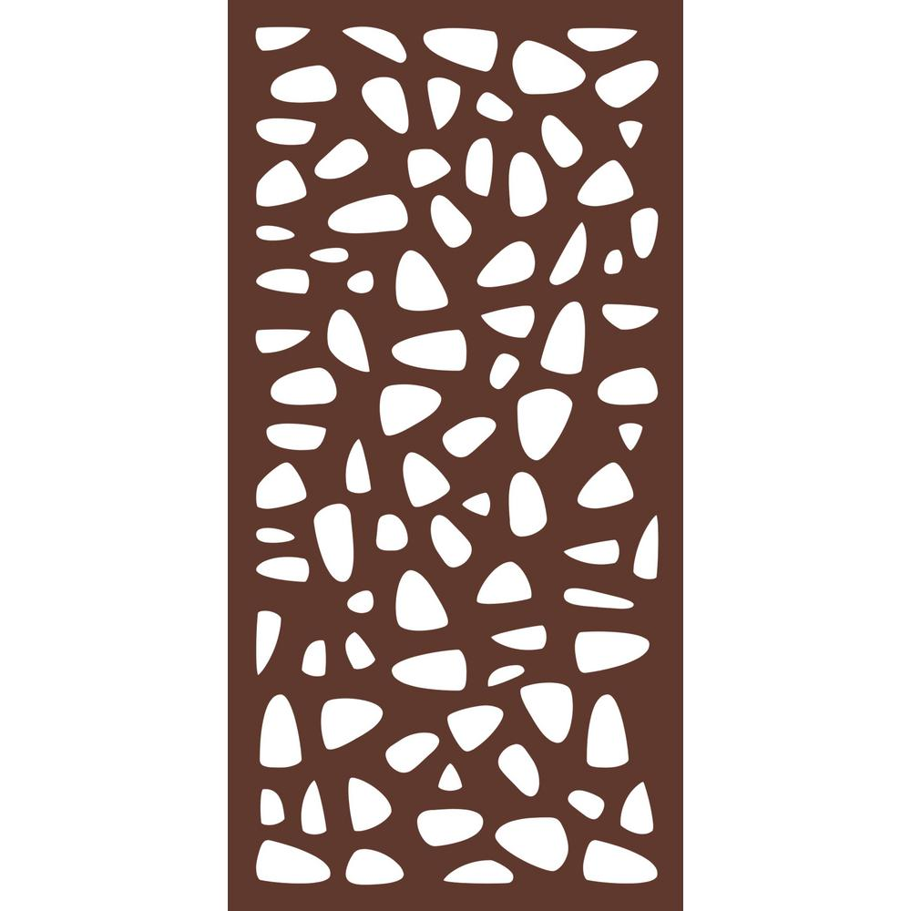 6 Ft X 3 Espresso Brown Modinex Decorative Composite Fence Panel Featured In The Stonewall Design