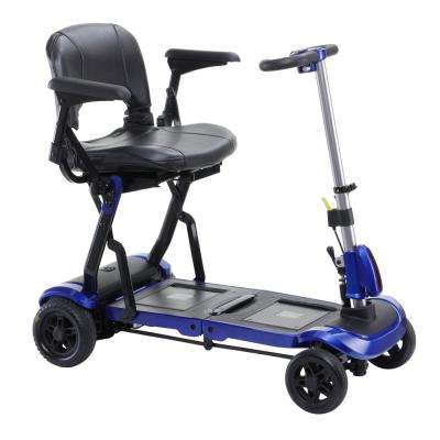 ZooMe Flex Ultra Compact Folding Travel 4-Wheel Scooter in Blue