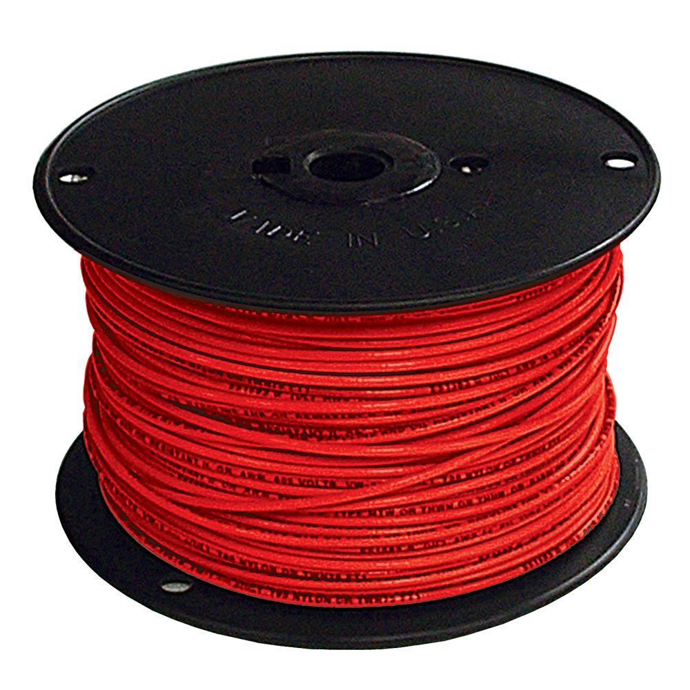 Southwire 500 ft. 2 Red Stranded CU SIMpull THHN Wire-20501301 - The ...