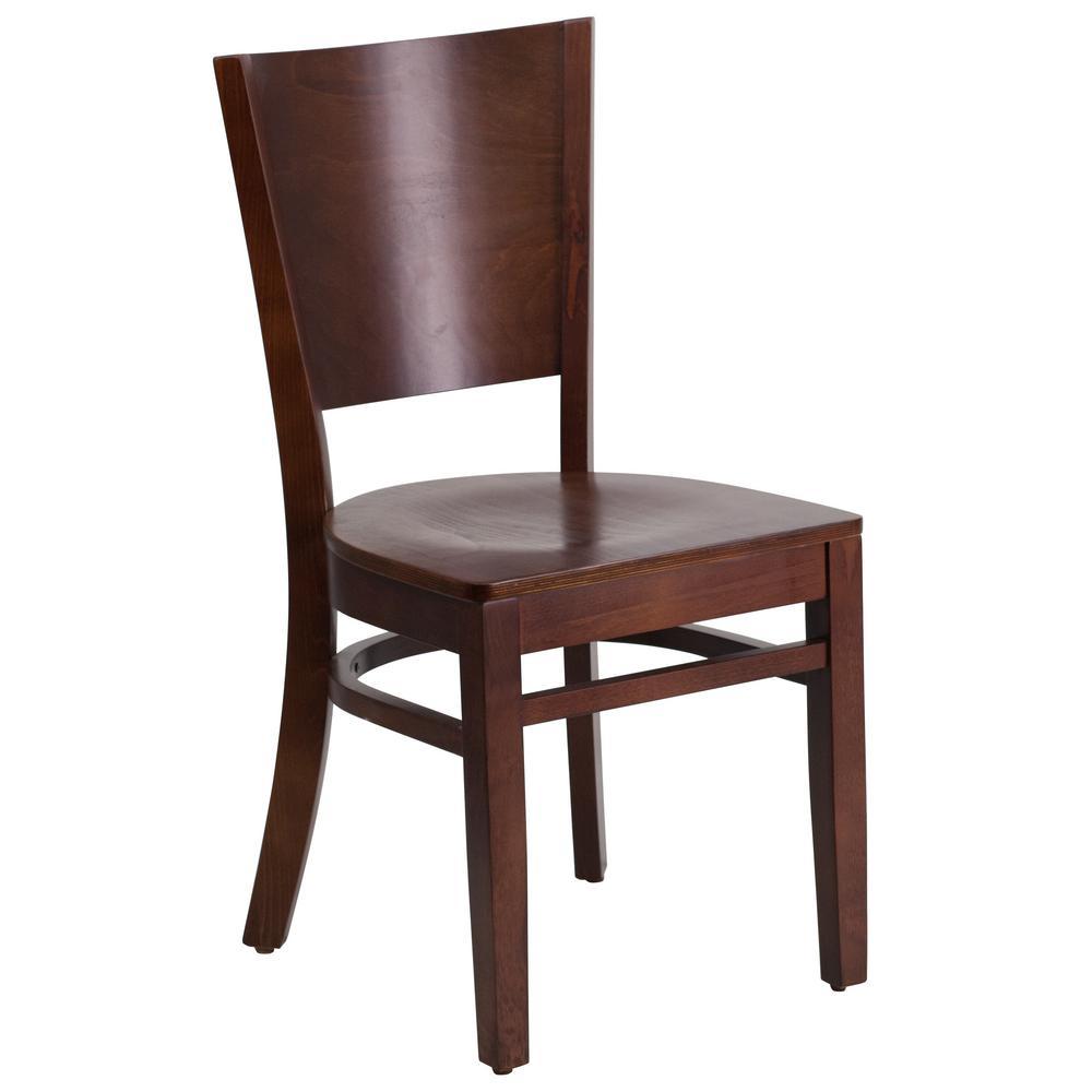 Lacey Walnut Wood Seat/Walnut Wood Frame Side Chair