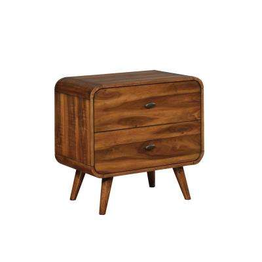 Robyn 2-drawer Nightstand Dark Walnut