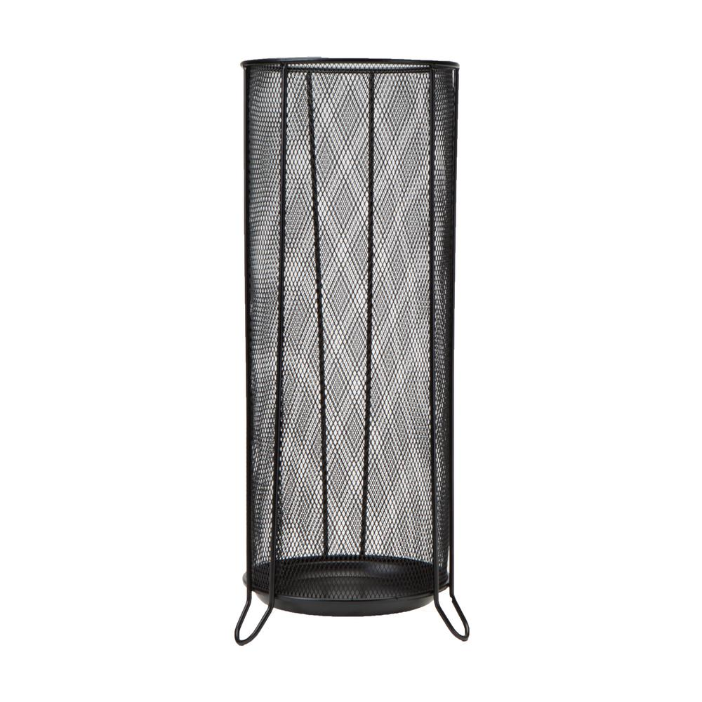 Mind Reader Black Metal Mesh Umbrella Holder Stand
