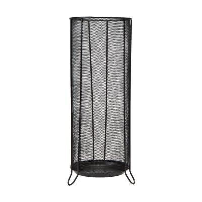 Black Metal Mesh Umbrella Holder Stand