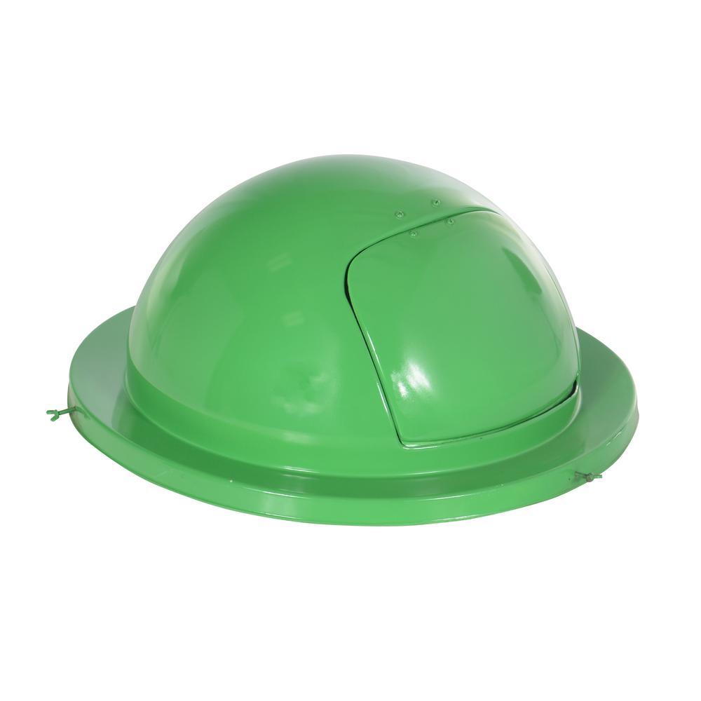 Vestil 55 Gal. Fiberglass Waste Drum Top-Green
