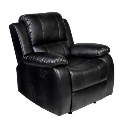 Clarkson Black PU Leather Massage Rocker Recliner