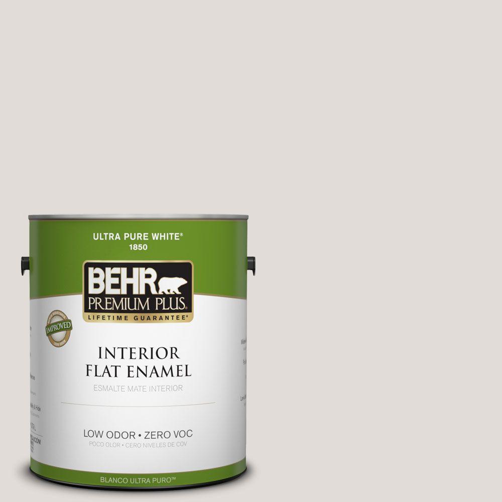 BEHR Premium Plus 1-gal. #PPL-63 Hint of Mauve Zero VOC Flat Enamel Interior Paint-DISCONTINUED