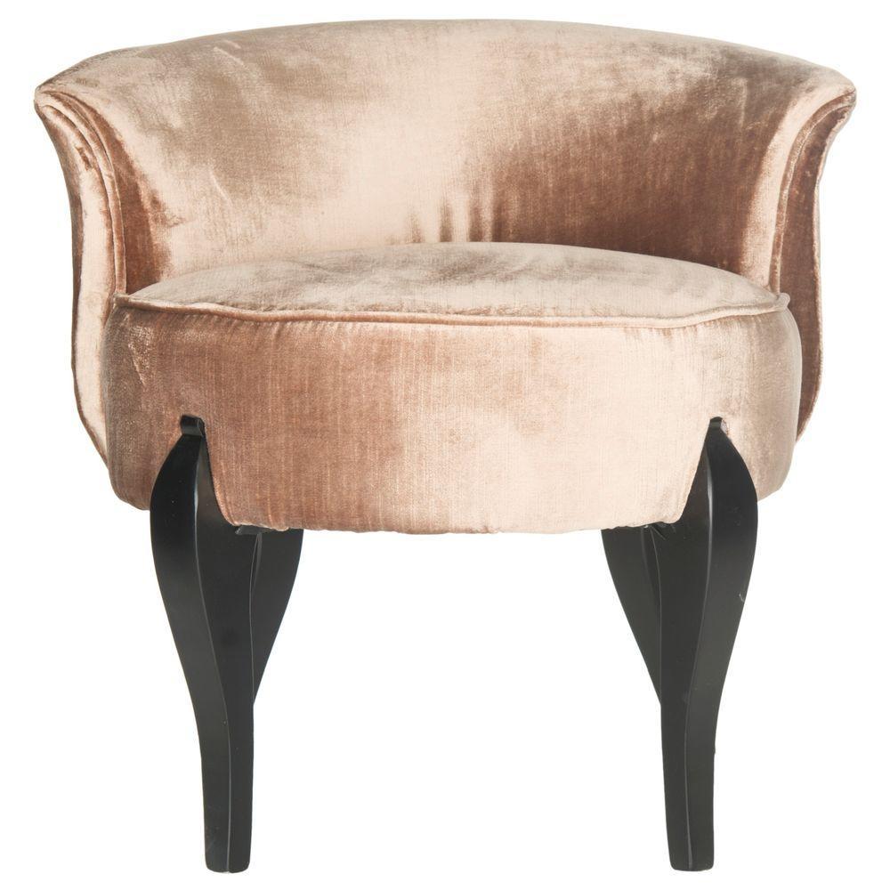 Mora Mink Brown Cotton/Viscose Vanity Chair