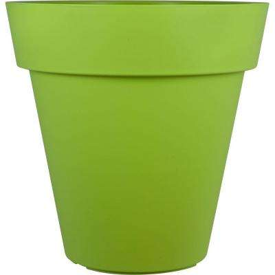 Mela 24 in. Round Green Plastic Planter