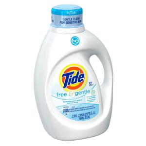 Tide 100 oz  Free and Gentle HE Liquid Laundry Detergent (64  Load)-003700008885 - The Home Depot