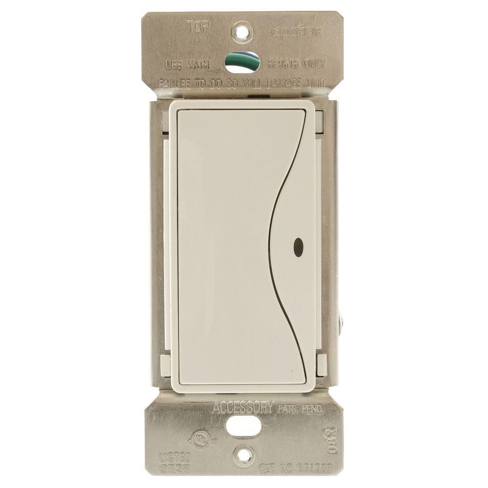 Aspire 8 Amp Non-RF 3-Way LED Accessory Rocker Switch - Alpine White