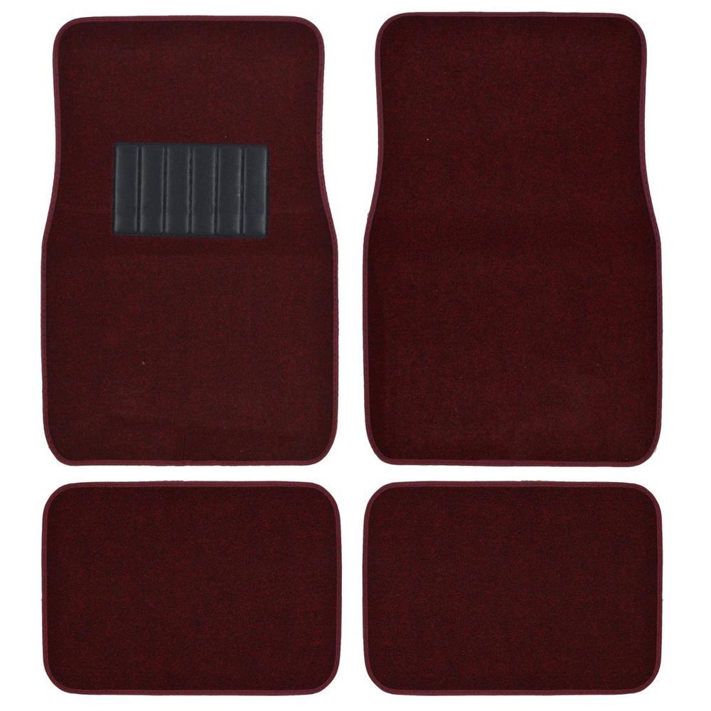 Motor trend matlock mt 120 burgundy carpet with non slip for Motor trend floor mats review