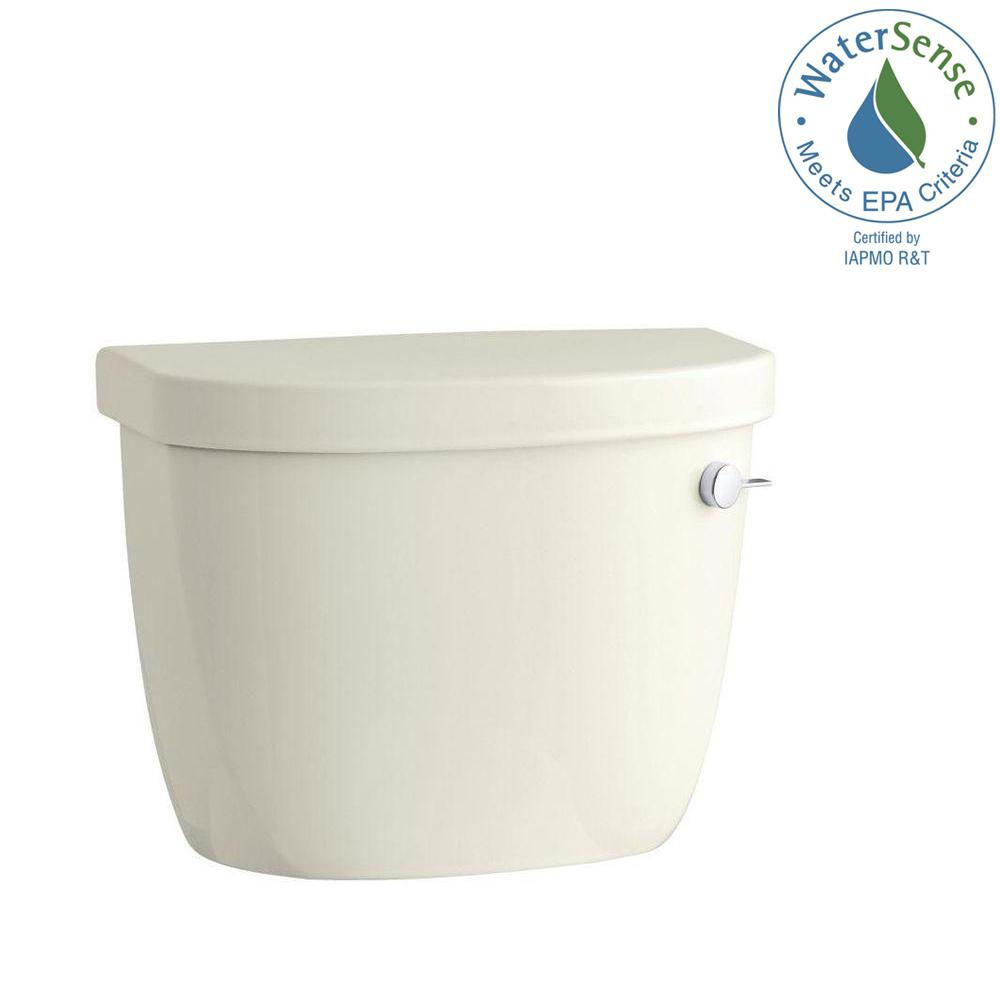 KOHLER Cimarron 1.28 GPF Single Flush Toilet Tank Only with Right-Hand Trip Lever and AquaPiston Flushing Technology in Biscuit