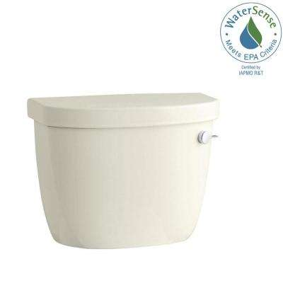 Cimarron 1.28 GPF Single Flush Toilet Tank Only with Right-Hand Trip Lever and AquaPiston Flushing Technology in Biscuit