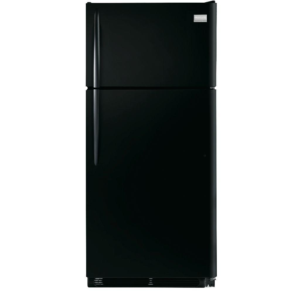 Frigidaire Gallery 18 cu. ft. Top Freezer Refrigerator in Ebony Black, ENERGY STAR