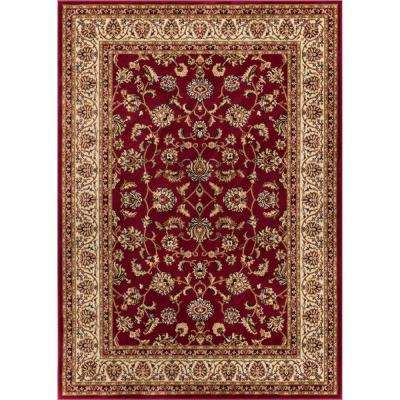 Barclay Sarouk Red 5 ft. x 7 ft. Traditional Floral Area Rug