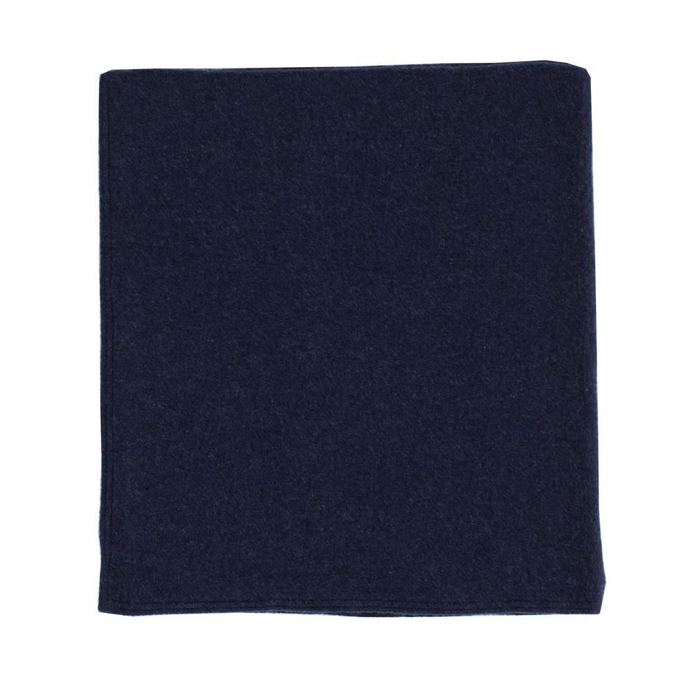 Washable Wool Navy Throw