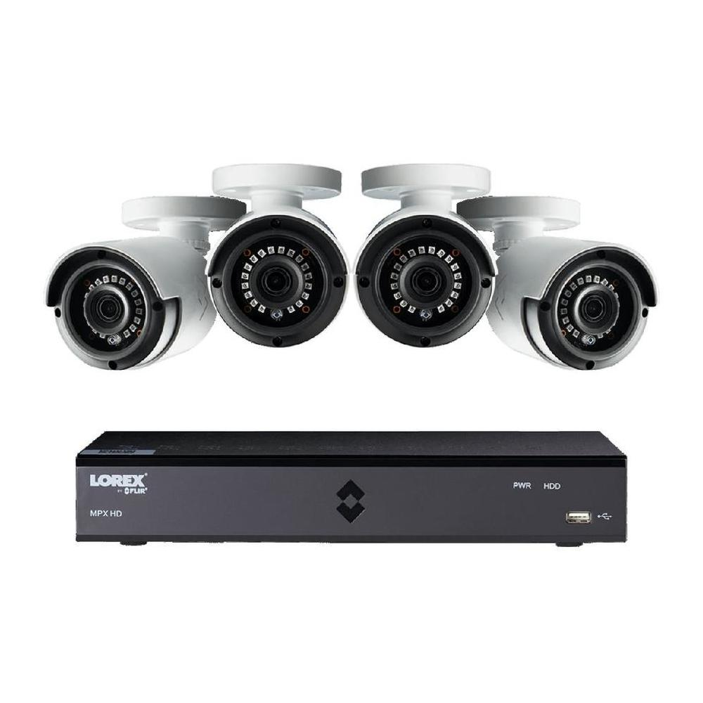 Analog Wired Outdoor 4 Security Camera with Night Vision