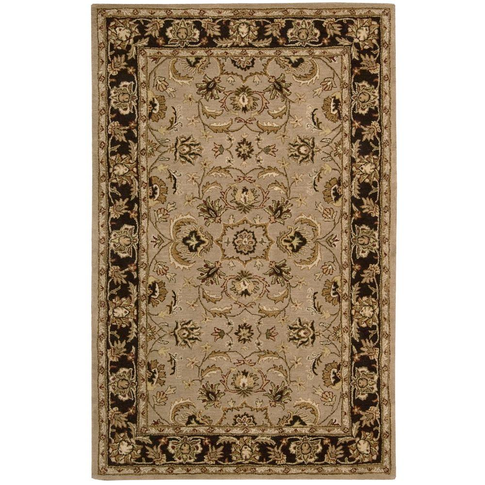 Nourison Overstock India House Taupe 5 Ft. X 8 Ft. Area