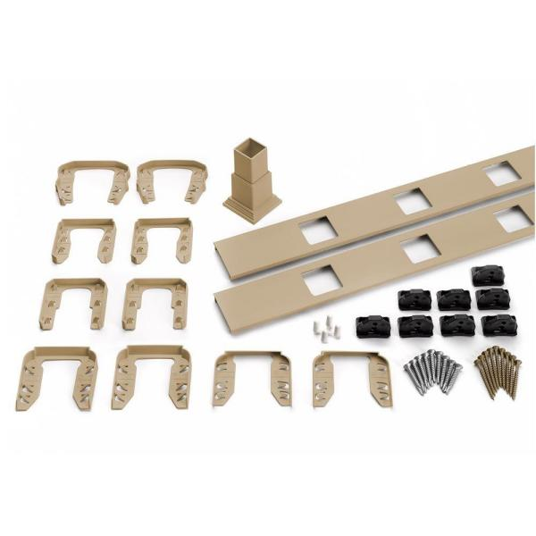 Transcend 91.5 in. Composite Rope Swing Square Baluster Stair Accessory Kit