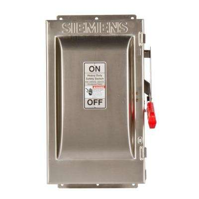 Heavy Duty 60 Amp 240-Volt 3-Pole Type 4X Fusible Safety Switch