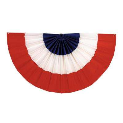 36 in. x 72 in Red, White and Blue Bunting