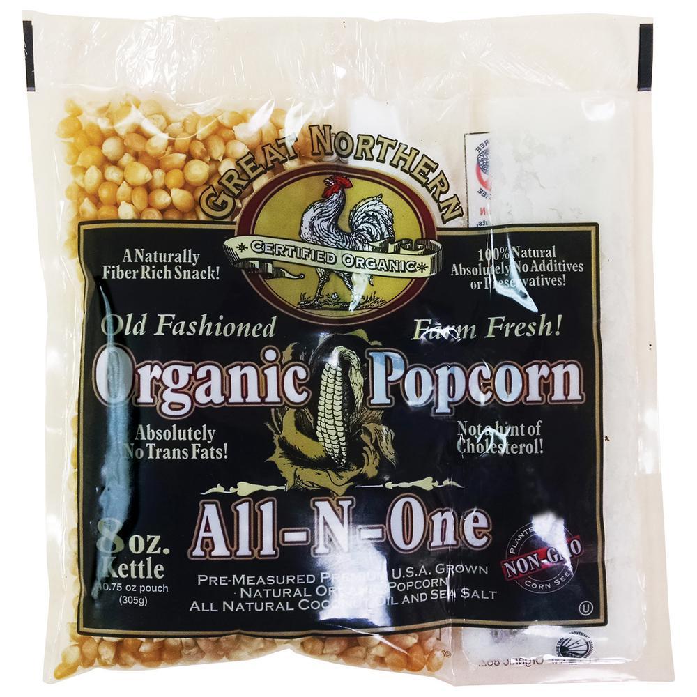 8 oz. Old Fashioned Organic Popcorn Portion Packs (18-Pack)