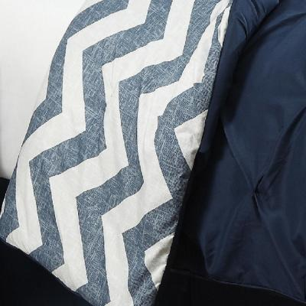Ella 6-Piece Navy Twin Comforter Set