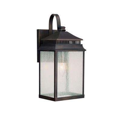 Johnson 1-Light Outdoor Old Bronze Incandescent Wall Lantern
