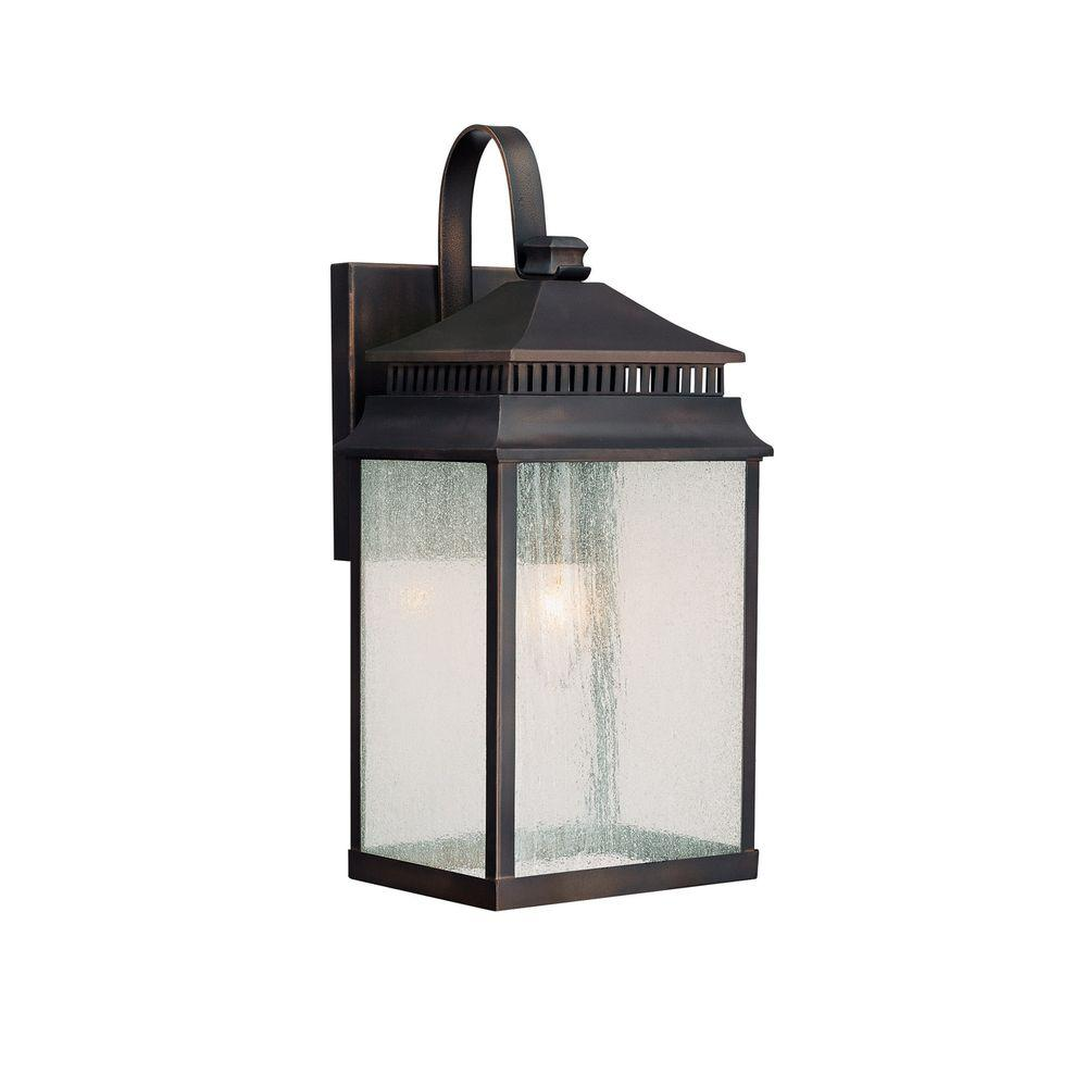 Filament Design Johnson 1-Light Outdoor Old Bronze Incandescent Wall Lantern
