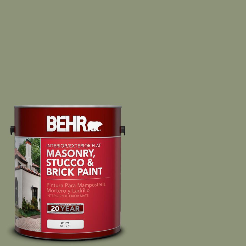 1 gal. #PFC-39 Moss Covered Flat Interior/Exterior Masonry, Stucco and Brick Paint