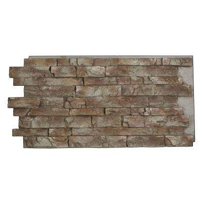 Snodonia Faux Stone Panel 1-1/4 in. x 48 in. x 24 in. Mountain Gray Polyurethane Interlocking Panel