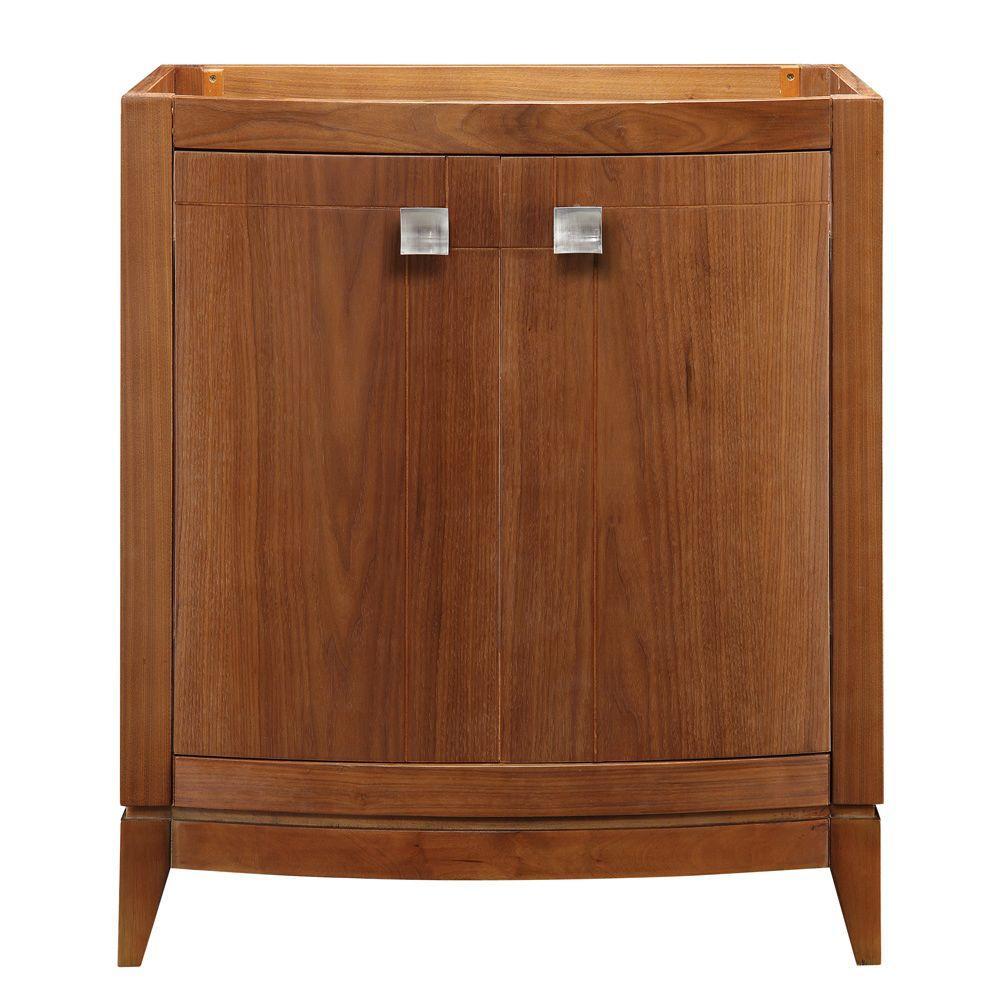 DECOLAV Gavin 30 in. W x 21.50 in. D x 35.25 in. H Birch Vanity Cabinet Only in Medium Walnut