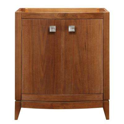 Gavin 30 in. W x 21.50 in. D x 35.25 in. H Birch Vanity Cabinet Only in Medium Walnut