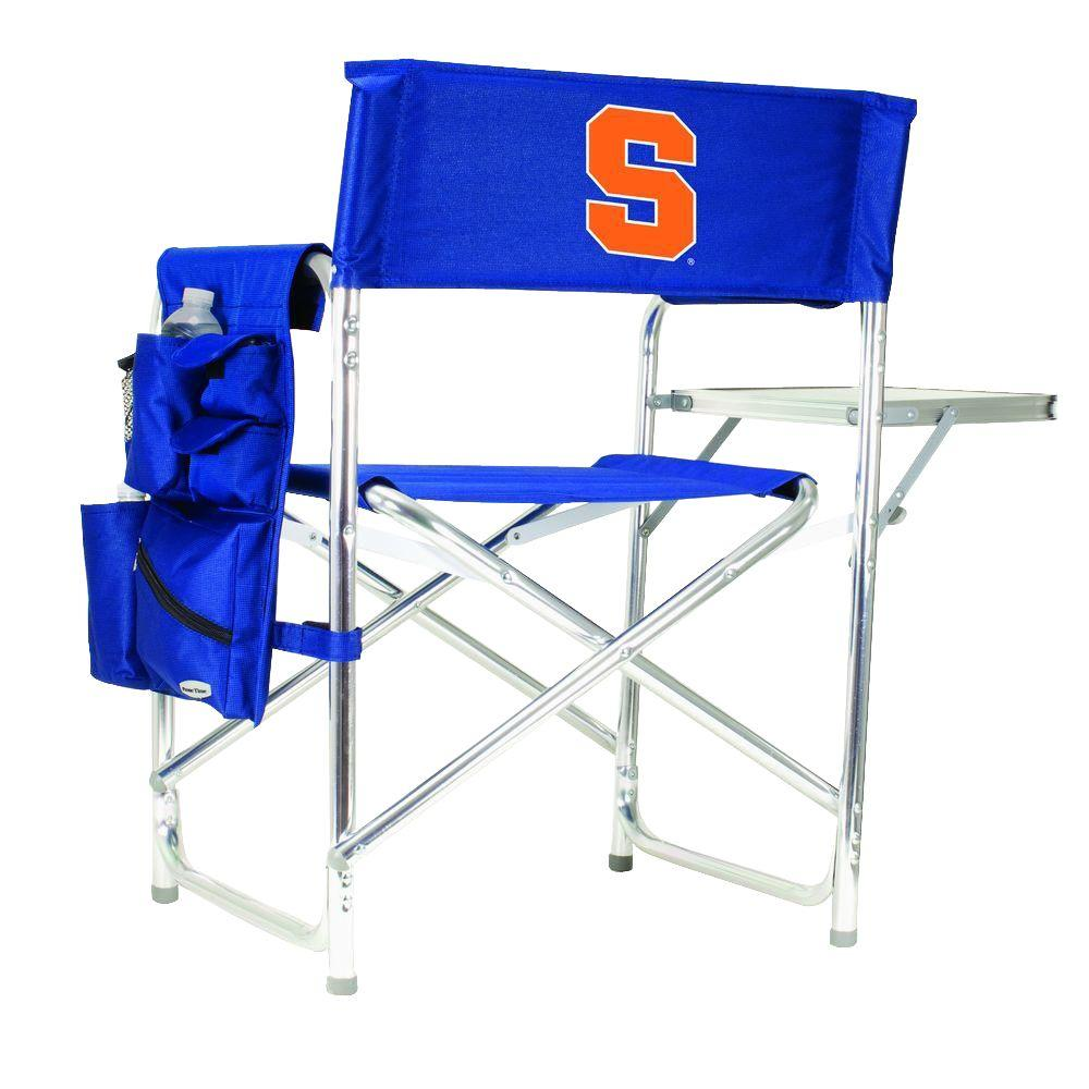 Picnic Time Syracuse University Navy Sports Chair with Embroidered Logo