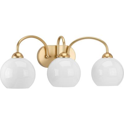 Carisa Collection 3-Light Vintage Gold Bath Light