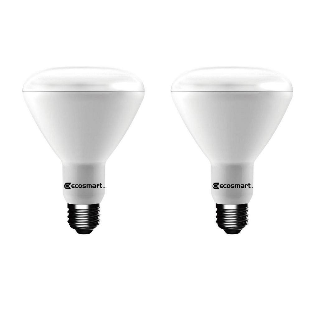 75-Watt Equivalent BR30 Dimmable Energy Star LED Light Bulb Soft White (2-Pack)
