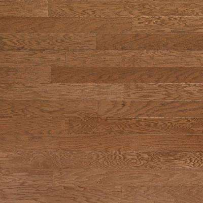 Take Home Sample - Brushed Oak Parchment Engineered Click Hardwood Flooring - 5 in. x 7 in.